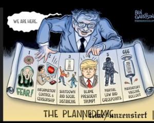 Satire Cov Skandal Trump USA